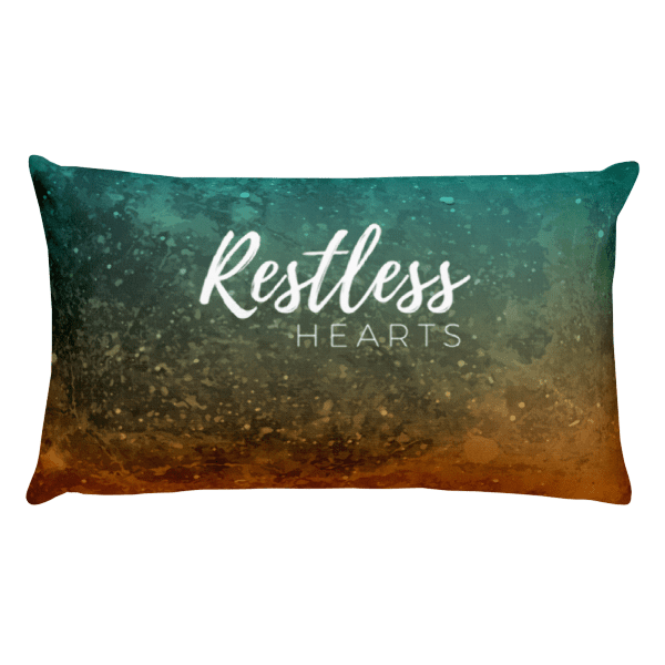 Restless Hearts Rectangular Pillow