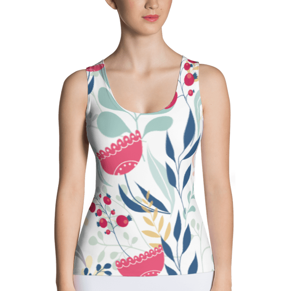 Colorful Earthy Floral Tank Top
