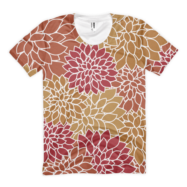 Abstract Leafy Multi-color Women's t-shirt