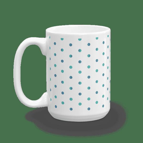 Watercolor Polka Dot Mug