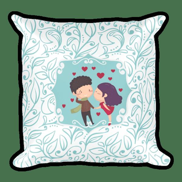 Kiss Me Love Square Pillow