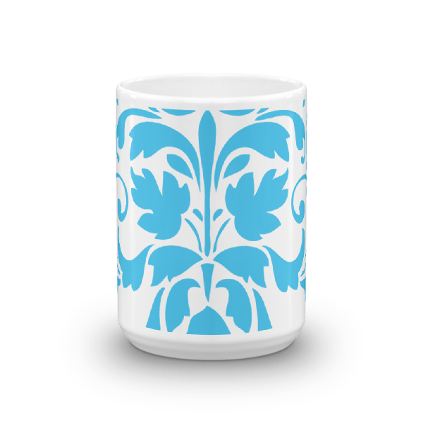 Blue Ornamental Mug