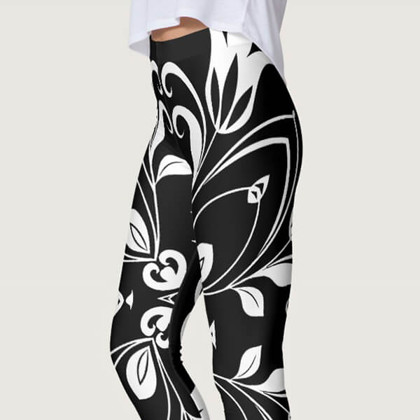 Bold Floral Butterfly Leggings, yoga butterfly leggings, cute yoga leggings, maternity yoga pants