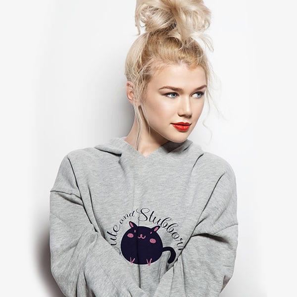 Cute and Stubborn Kitty Sweatshirt