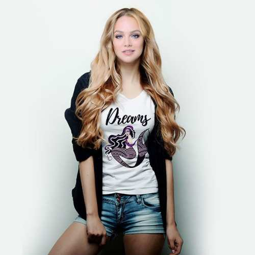 dreams mermaid fantasy royal t-shirt