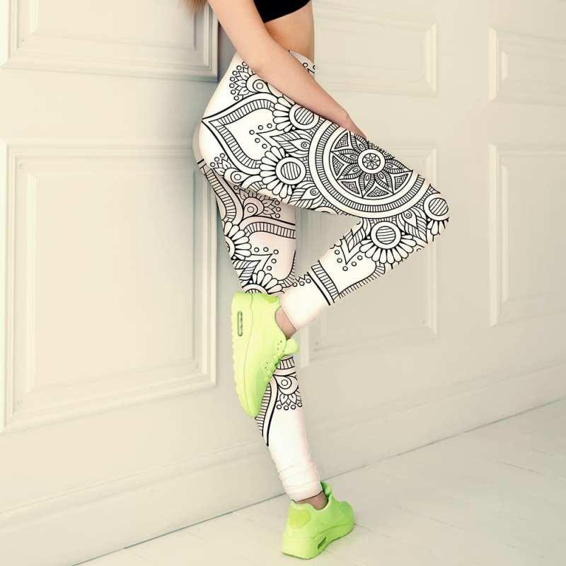 classic black and white womens leggings, slim thick leggings, iamgonegirldesigns,
