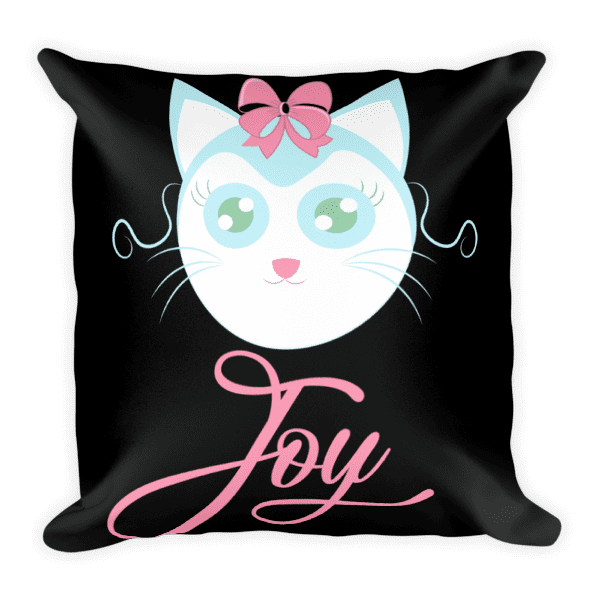 Joyful Cat Square Pillow