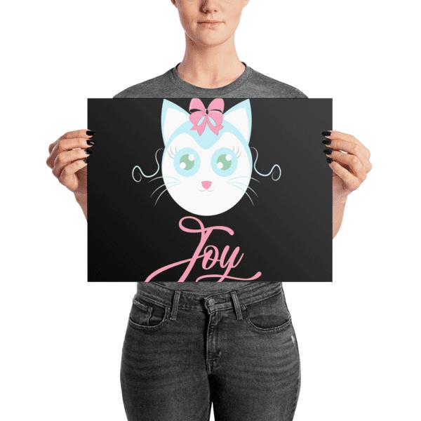 Joyful Cat Dark Poster
