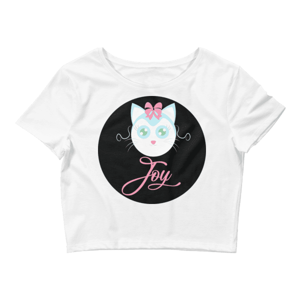 Joyful Cat Women's Crop Tee