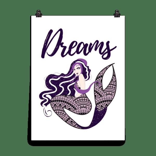 Bohemian Mermaid Dreams Poster
