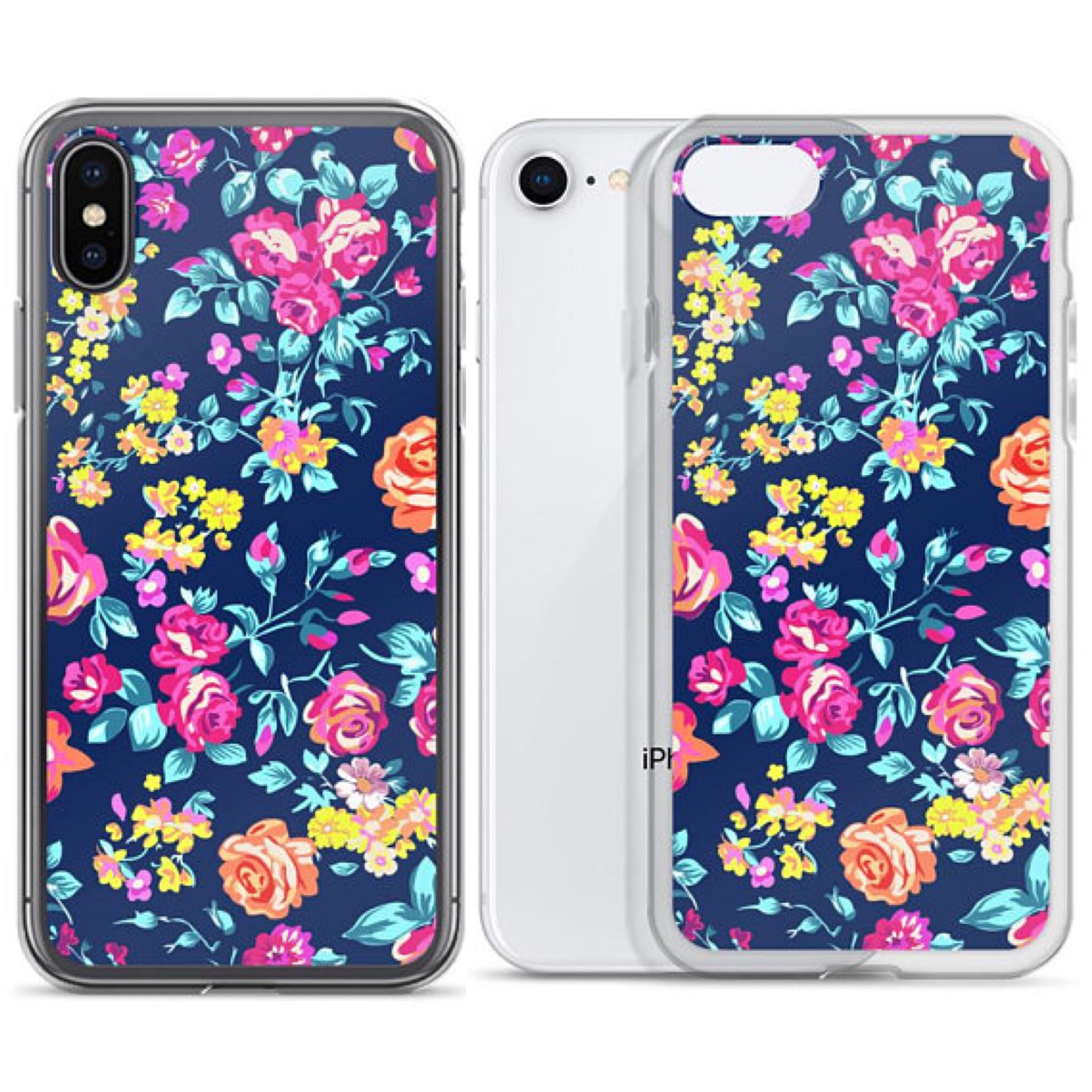 Gorgeous floral chaos iPhone X case, iPhone 8 plus case, iPhone 7 cases