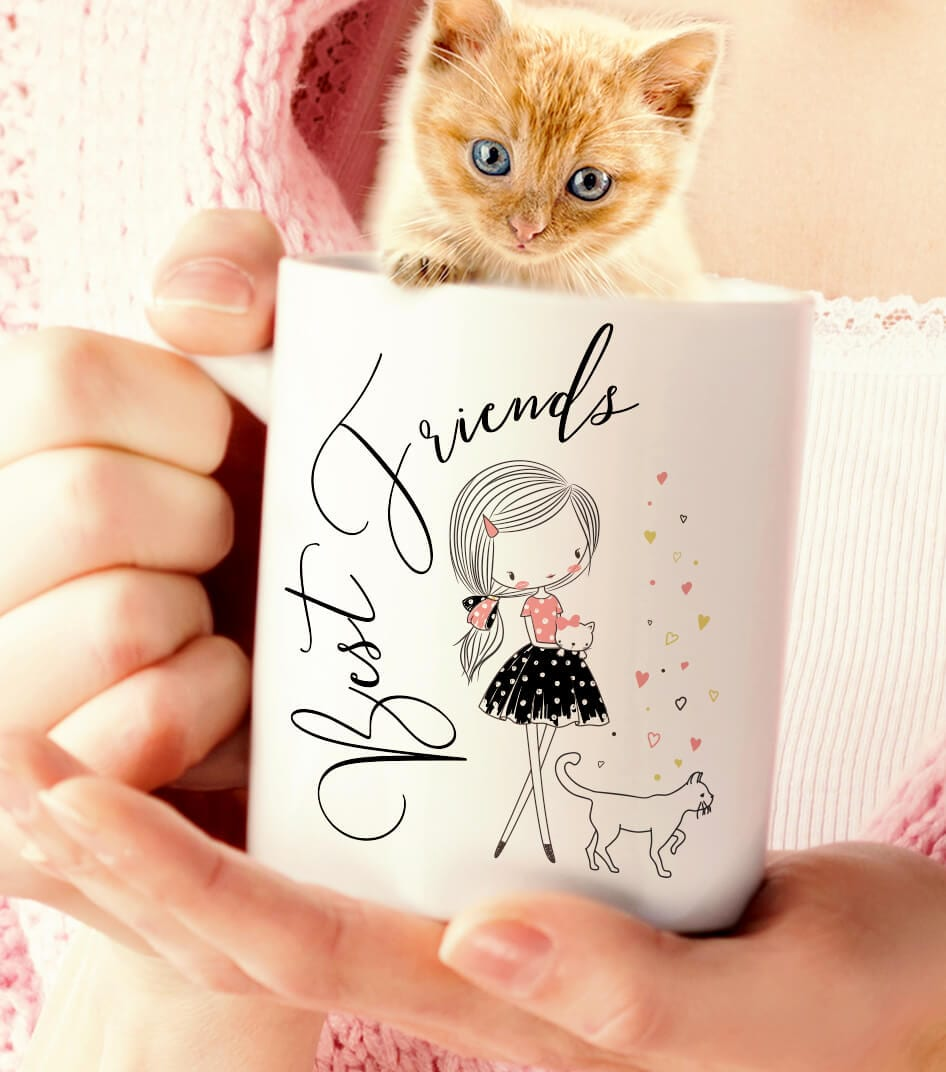 Best Friends Kitty and Me Mug