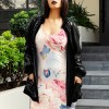 Blue and Pink Floral Nature Dress