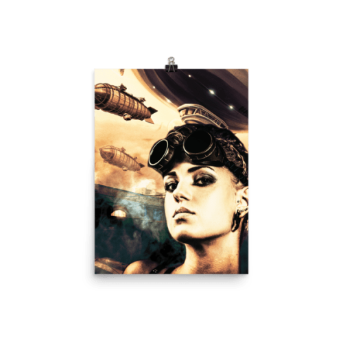 Steampunk Misfits: Laura Wall Art Print