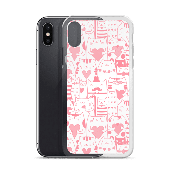 Heart You Pink and White iPhone Case