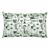 Heart You Green and White Cat Rectangular Pillow