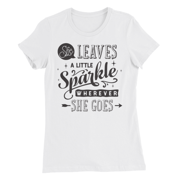 She Leaves Sparkles Women's Slim Fit T-Shirt