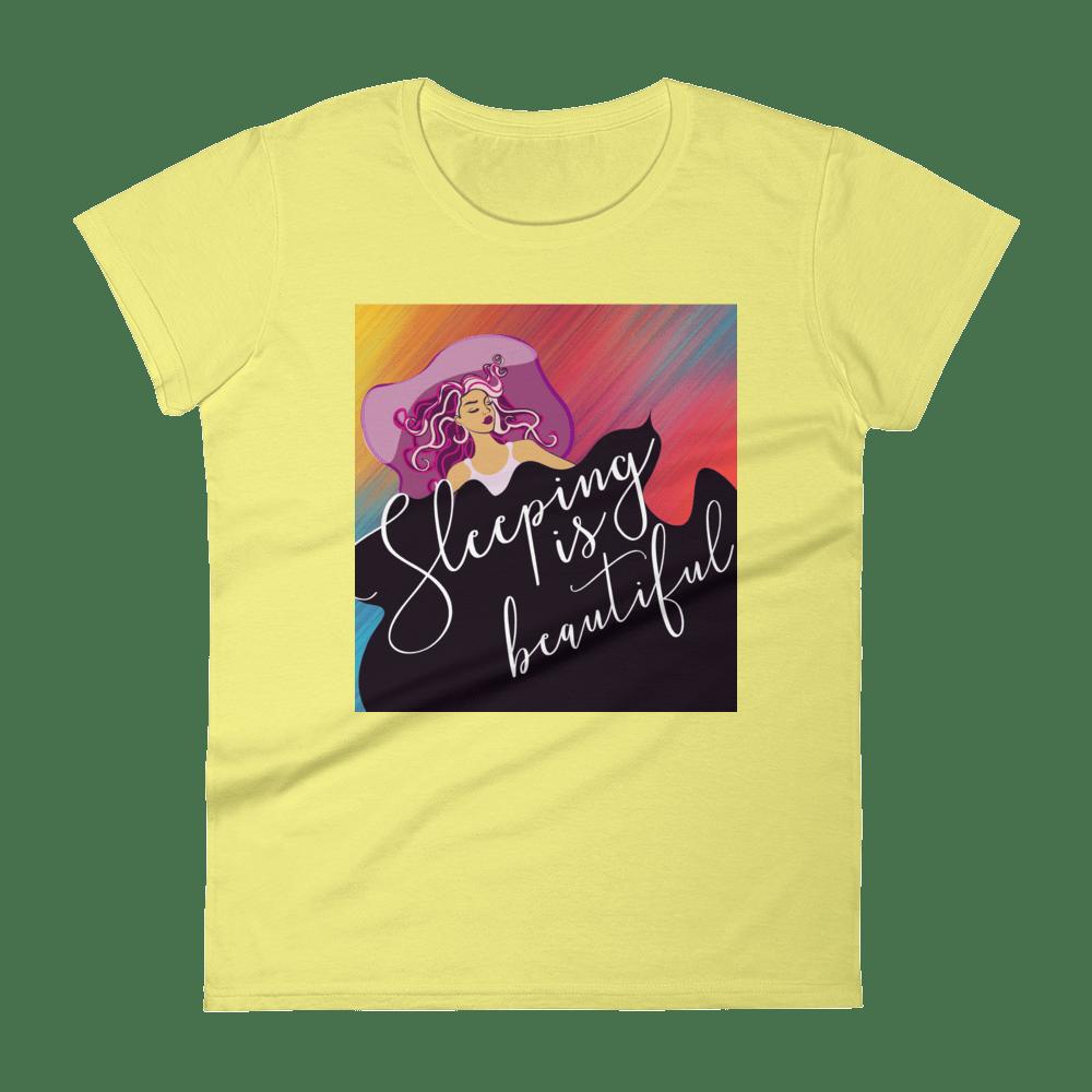 Sleeping Is Beautiful Women's short sleeve t-shirt
