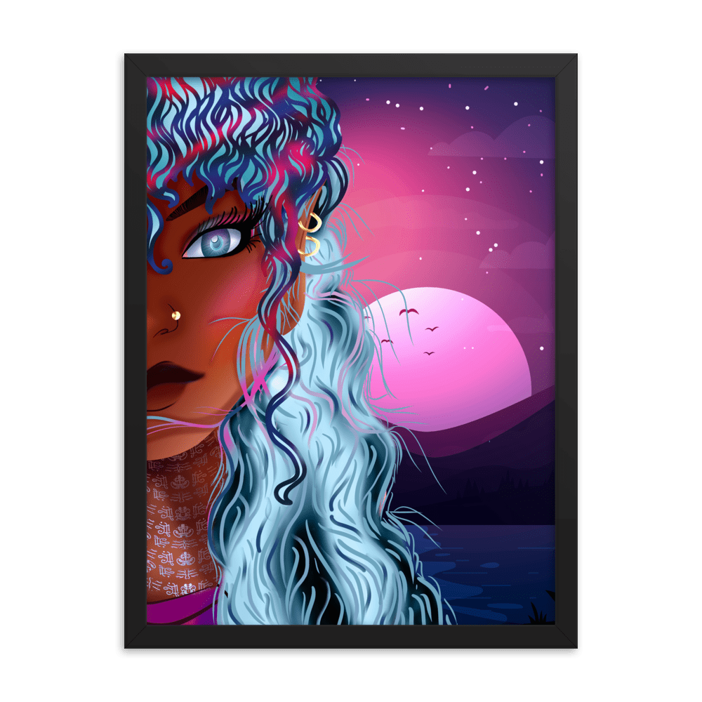 REYA Amethyst Fantasy Framed Wall Art Print