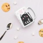 I love my cat mug for cat lovers christmas gift