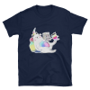 Meowgical Cat, Rainbow Caticorns, Books, and Coffee Cat Lover Shirt