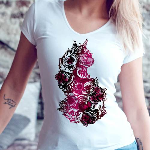 Valentine Goth Cats and Tattoos – Floral Sphynx Cat Lover Shirt