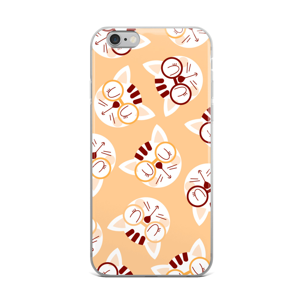 Coffee and Cream Nerdy Cats iPhone Case