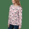 Floral Half Skull Unisex Sweater