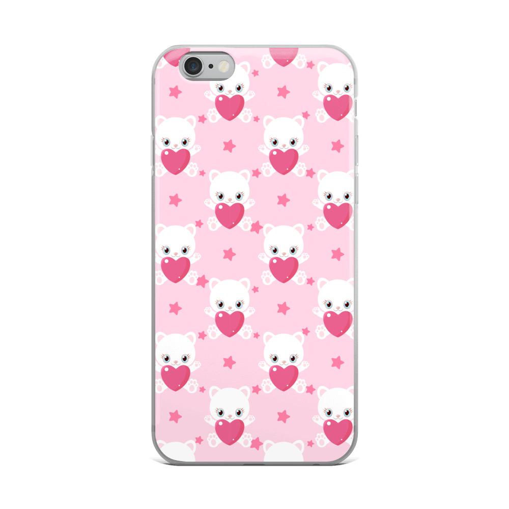 Valentine kittens iPhone Case