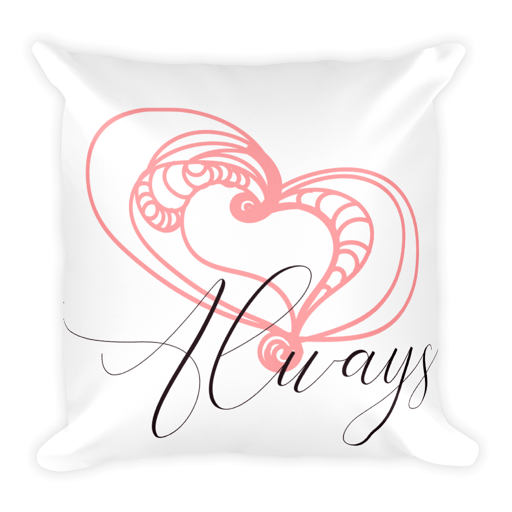 Love Always Valentine Pillow Cover with Insert