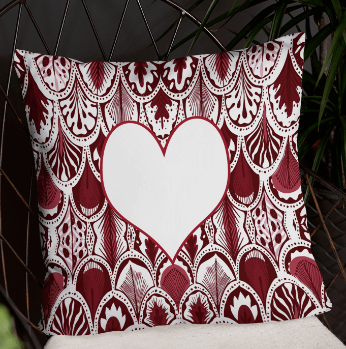 WICKED Hearts Abstract Valentine's Day Pillow Cover with Insert – Valentine Home Decoration