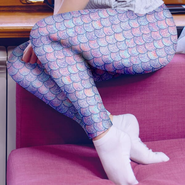 Amethyst Iridescent Mermaid Leggings