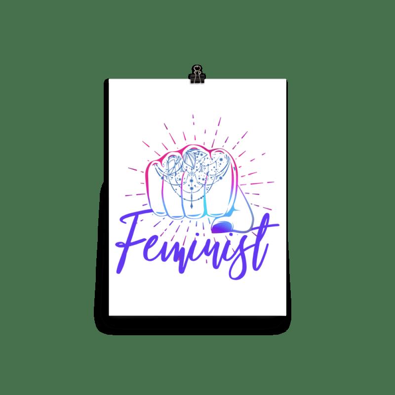 Feminist Girl Power Punch Tattoo Wall Art Print Poster