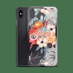 Watercolor Blanket Flowers and Peonies iPhone Case