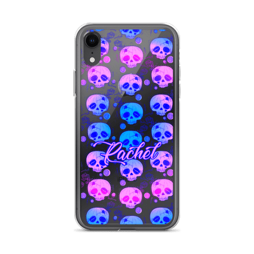 Gradient Floral Skull iPhone Case