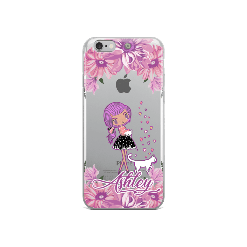 Personalized Kittens and Friends Peony iPhone Case