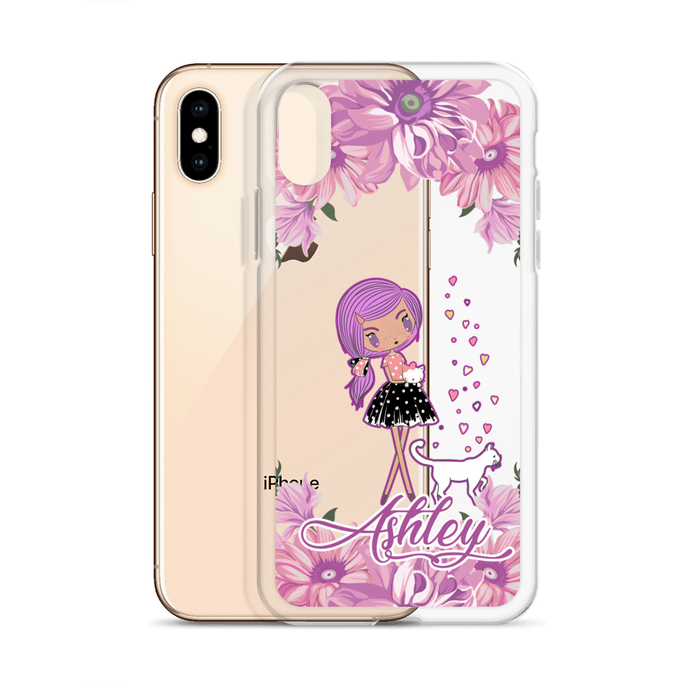 Personalized Kittens and Friends Peony Clear iPhone 6s Plus - XS Max Case