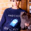 Mother of Cats Crewneck sweater cute, game of thrones cat sweater
