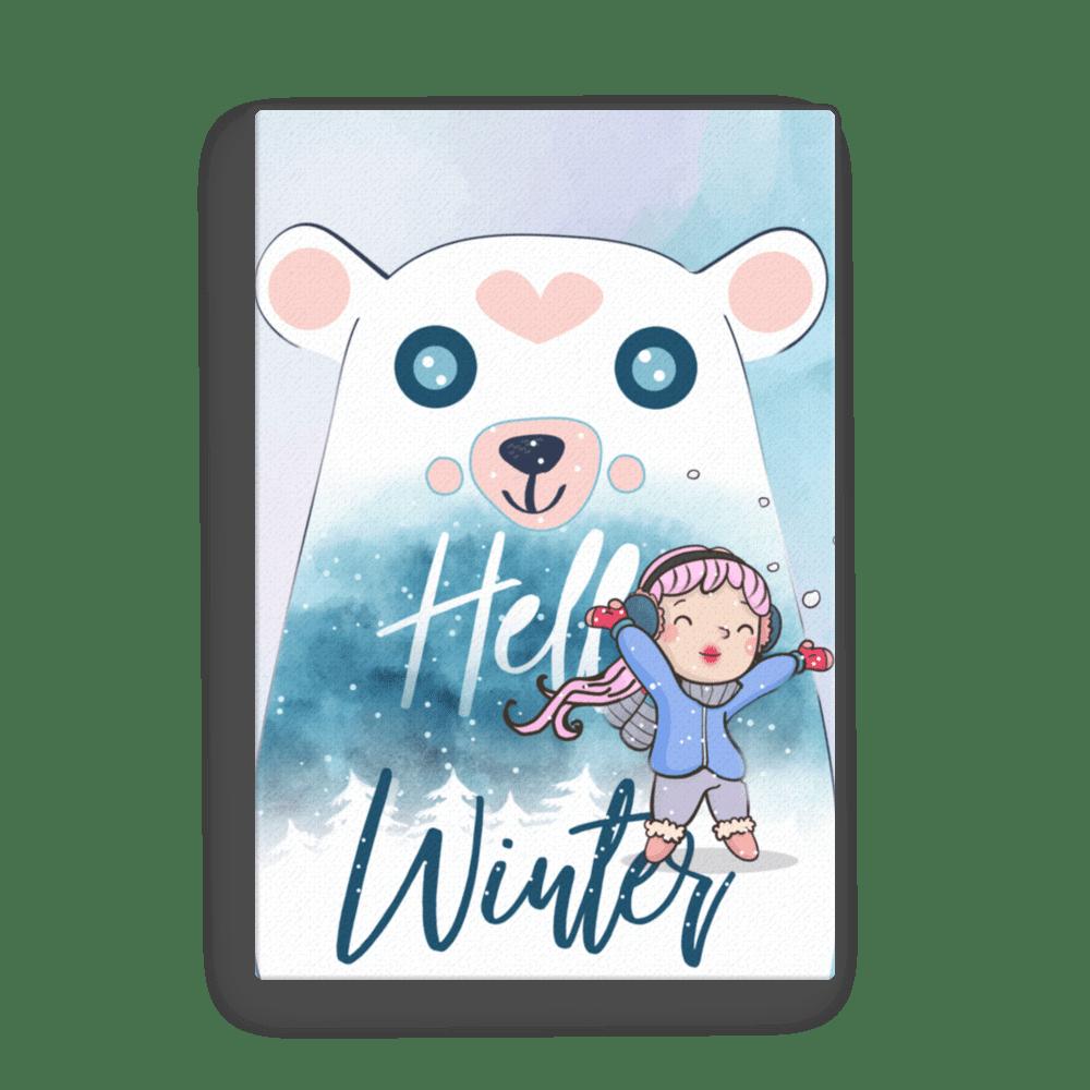 Hello Winter Polar Bear Canvas