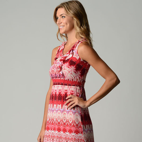 Kora Tribal Pink Maxi Dress