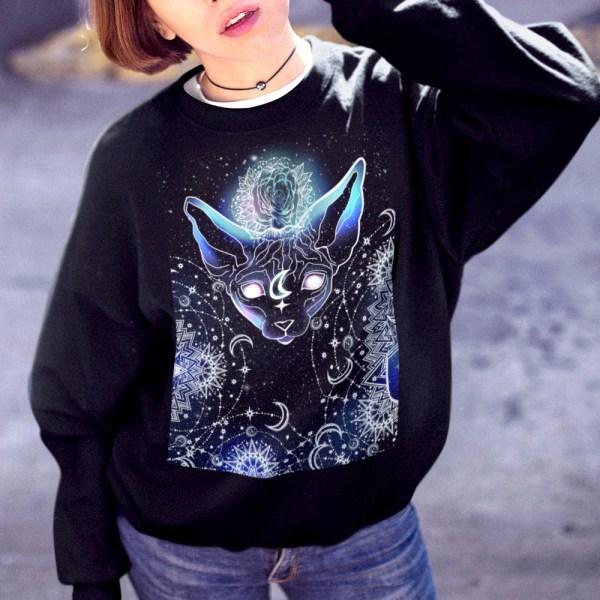 Celestial Magical Sphynx Cat Sweatshirt