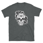 Floral Mexican Day of The Dead Skull Short-Sleeve T-Shirt