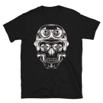 Mind Control Biker Skull Head Short-Sleeve T-Shirt