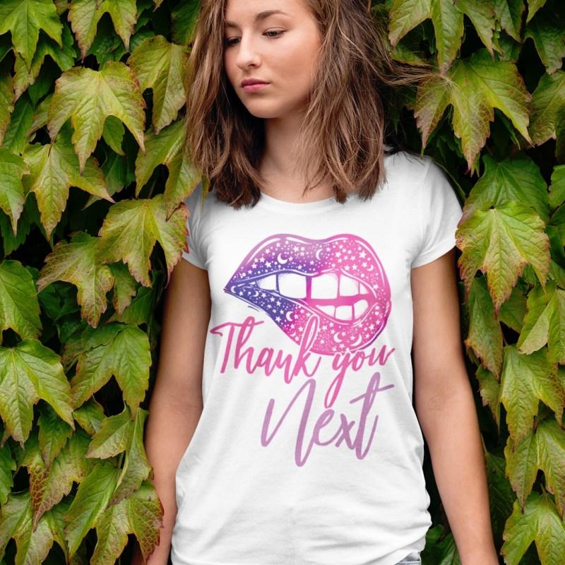 Thank You Next Pretty Lips Short-Sleeve Unisex T-Shirt