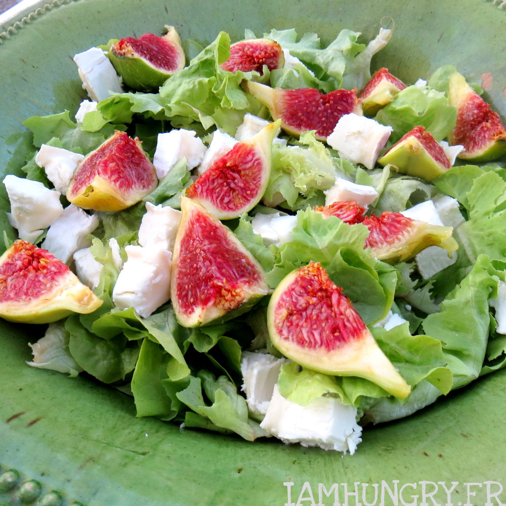 Salade Dt Chvre Et Figues IAMHUNGRY