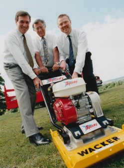 Allen Plc (building contracting, civil engineering contracting, plant hire, house building, property development and investment) Left to right: Ken Fox (Managing Director), Donald Greenhalgh (Chairman), Martin Smith (Finance Director)