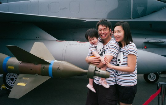 Baby at the Singapore Airshow 2014