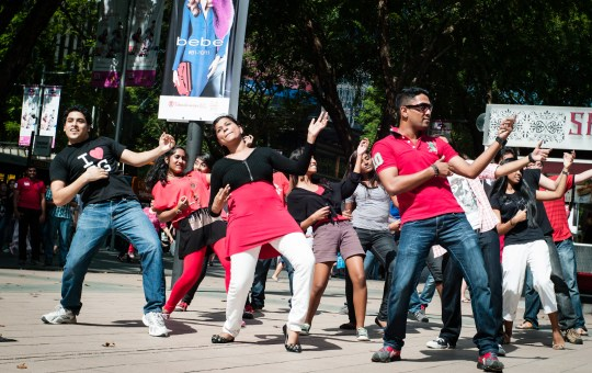 Flash mob in Orchard