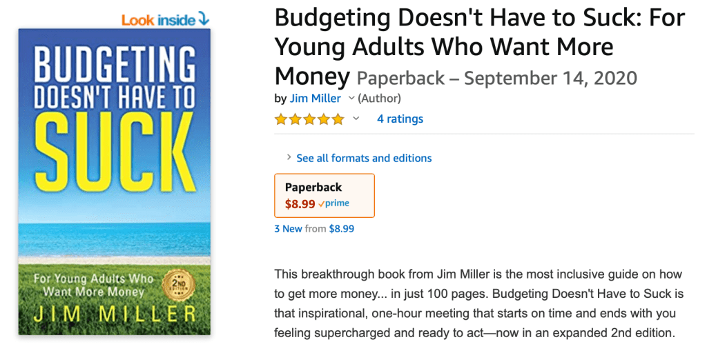 new book is here - budgeting doesn't have to suck for young adults who want more money 2nd edition