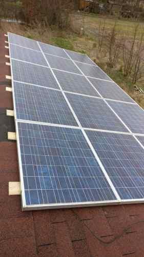 15 solar panels of 160 Watt